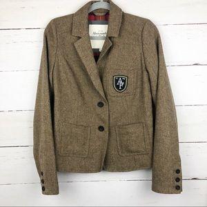 Abercrombie & Fitch Tweed Blazer Brown L